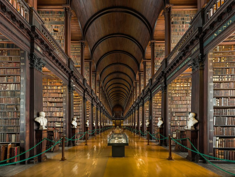 Long Room Interior, Trinity College, Dublin