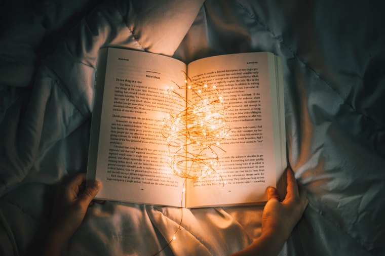 Book and lights